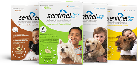 Sentinel chewable tablets. Image source: Sentinelpet.com