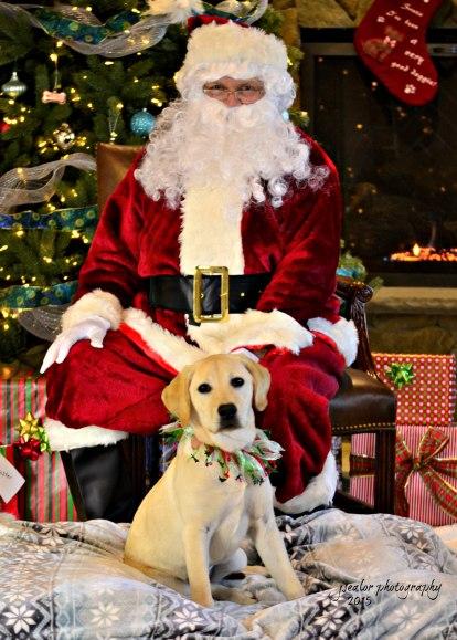 10. Mia Pisone and Santa 2015