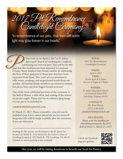 Pet Remembrance Candlelight Ceremony - Leesburg Loudoun County